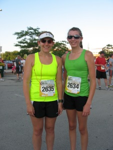 Crystal and I after the race!